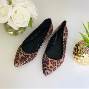 Express Cheetah Flats Size 10